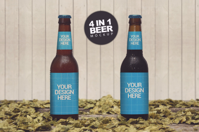 Download Kraft Paper 3 Pack Beer Bottle Carrier Mockup Yellowimages