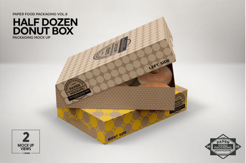 Download Gift Box Mockup Half Side View Yellowimages