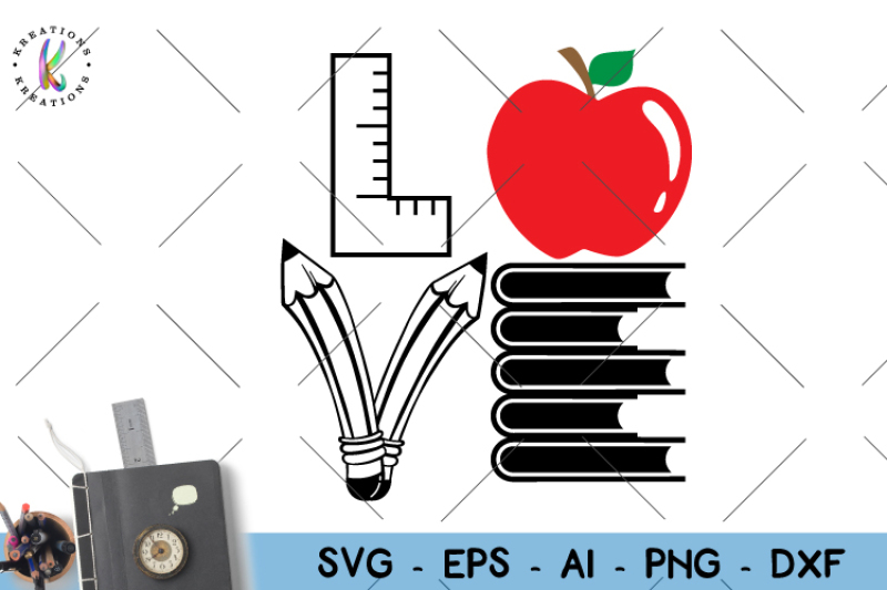 Download Love svg teacher svg By KreationsKreations | TheHungryJPEG.com