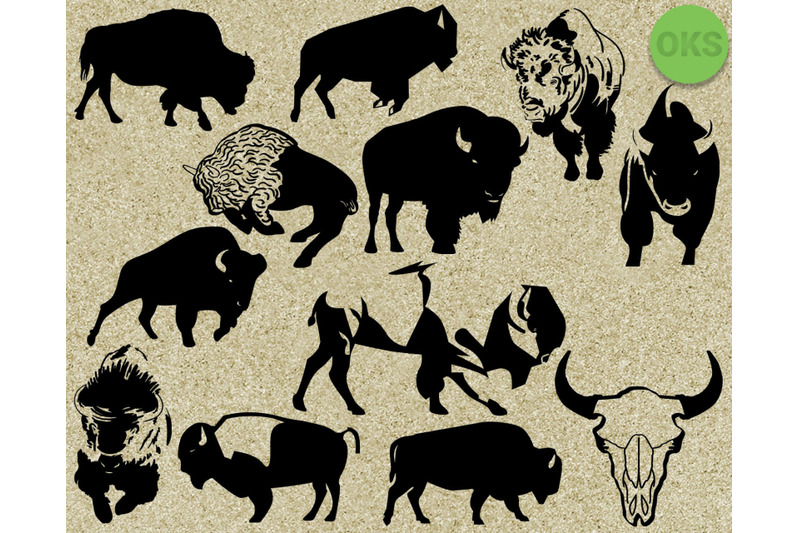 Download bison svg, svg files, vector, clipart, cricut, download By ...