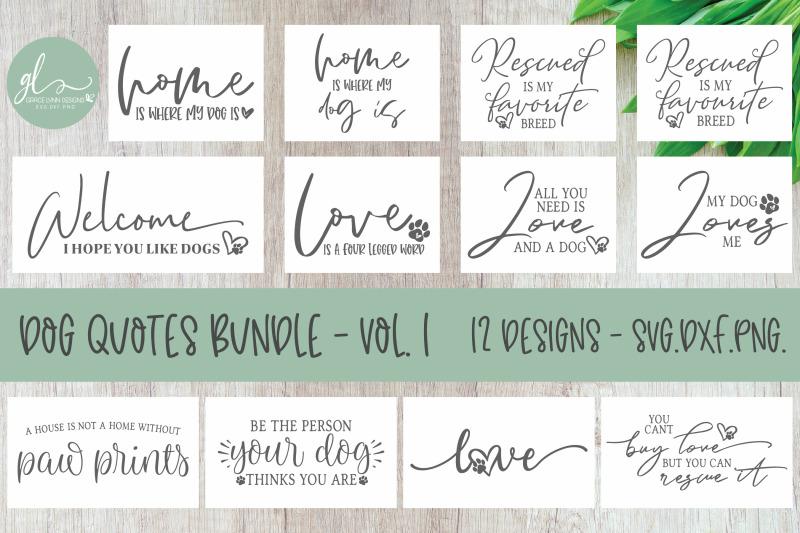 Download Dog Quotes Bundle - 12 SVG Designs By Grace Lynn Designs ...