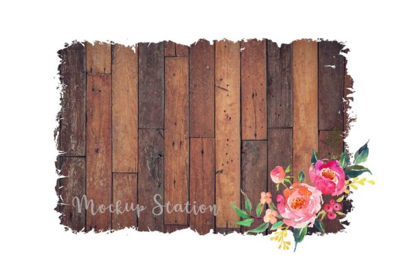 Sublimation Wood Background PNG Bundle, Rustic Watercolor ...