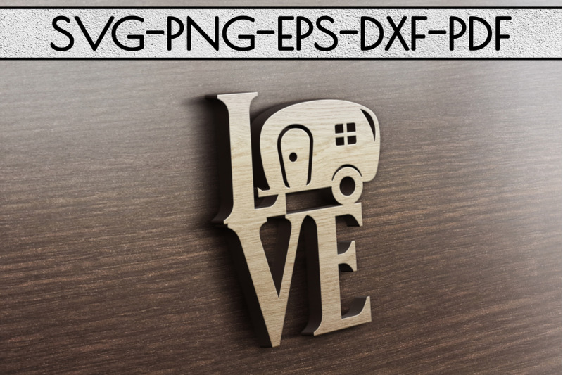 Download Love Camping Sign Papercut Template, Summer Camper SVG ...