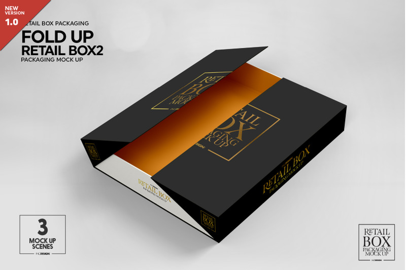 Download Box Mockup Behance Yellow Images
