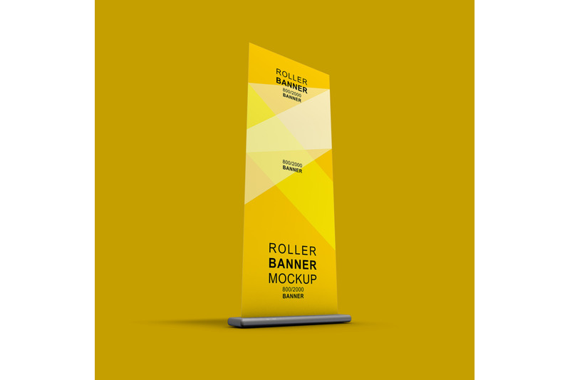 Download Free Roll Up Banner Mockup Psd Yellowimages
