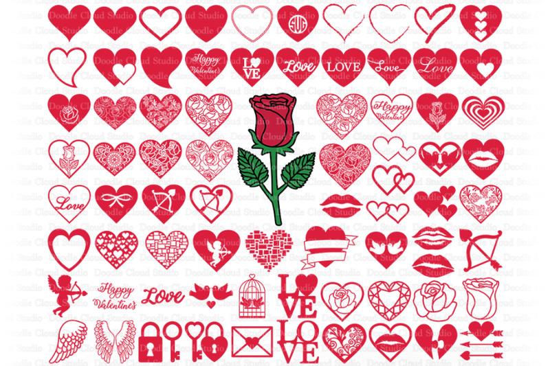 Download Heart SVG, Love SVG Cut Files, Valentine Heart SVG, Heart ...