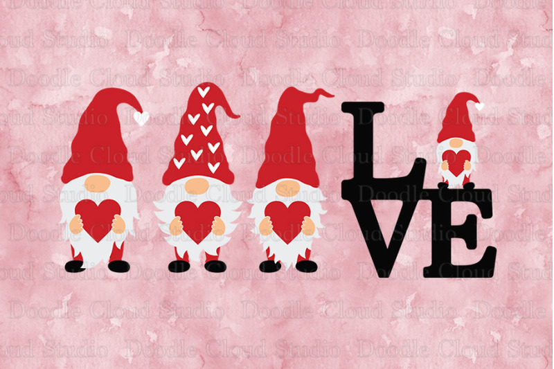 Download Love Gnomes SVG, Gnome with Heart SVG Cut Files. By Doodle ...