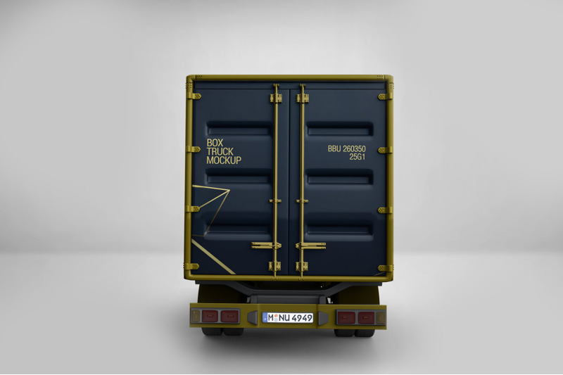Download Box Truck Mockup By Pixelica21 | TheHungryJPEG.com