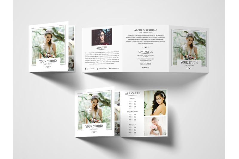 Download Gate Fold Brochure Mockup Psd Yellowimages