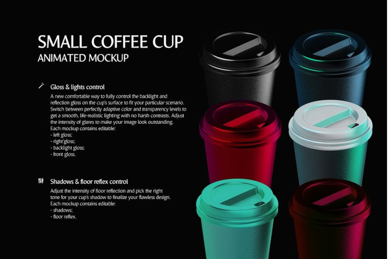 Download Glossy Small Coffee Cup Mockup High Angle Shot Yellowimages
