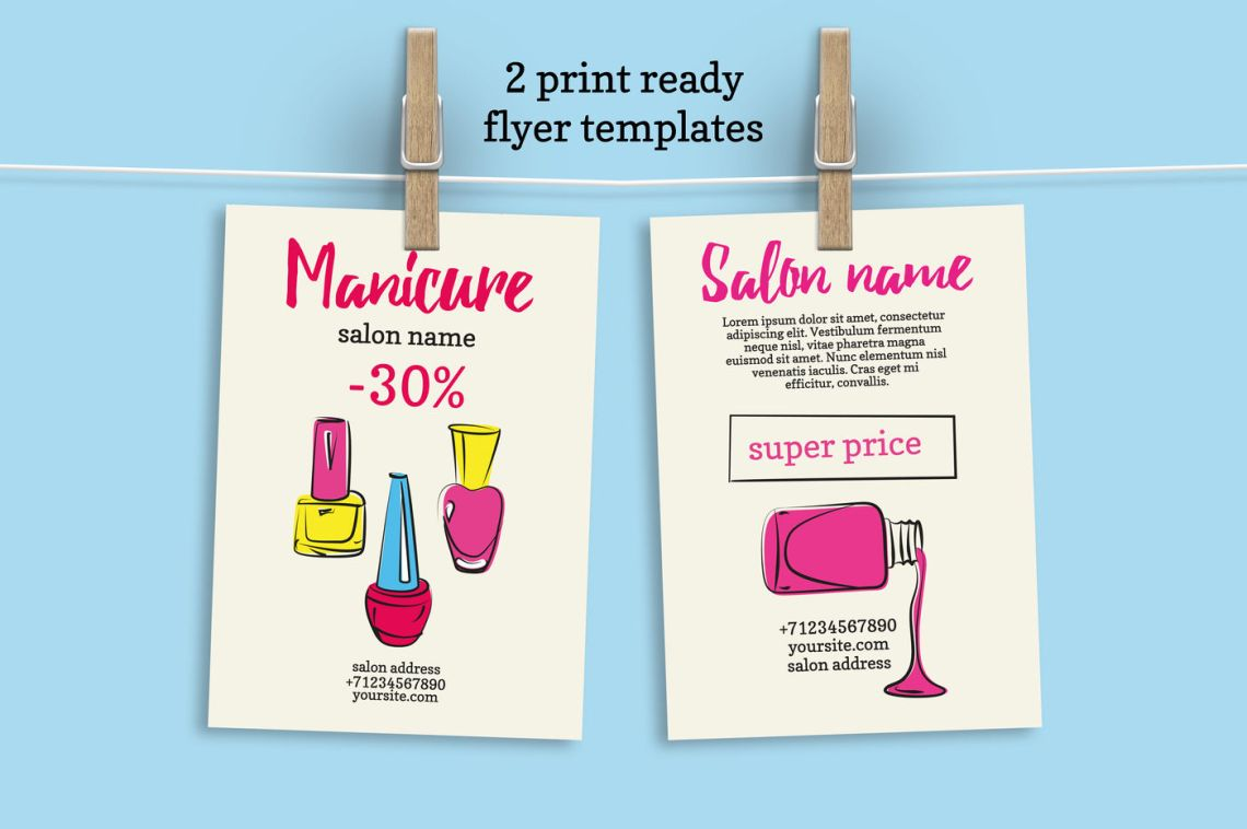 Download 2 Sided Flyer Mockup Psd Free Download Yellowimages
