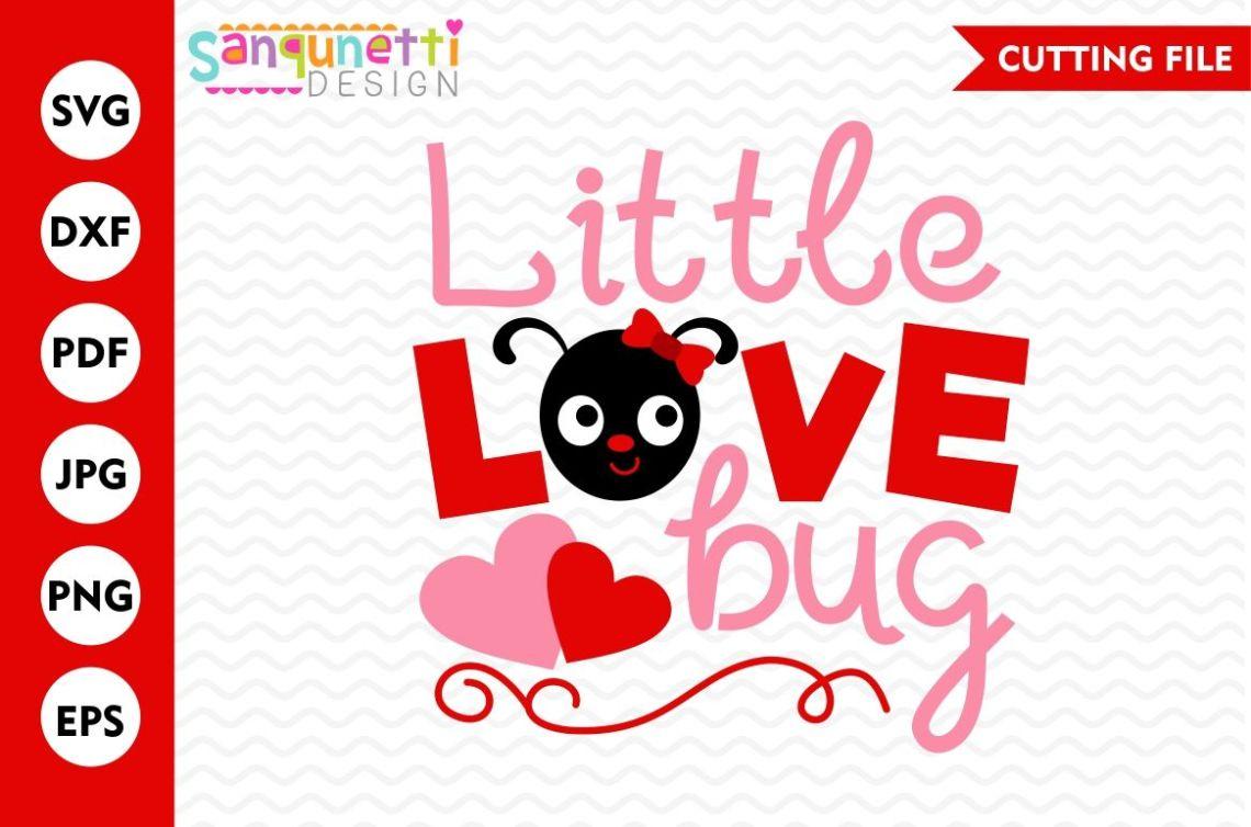 Download Little Love Bug SVG, Valentine SVG, Love SVG, DXF By ...