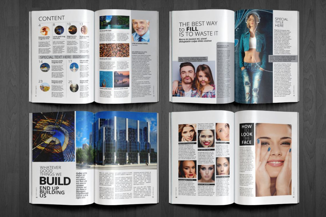 Modern Magazine By Top Design | TheHungryJPEG.com