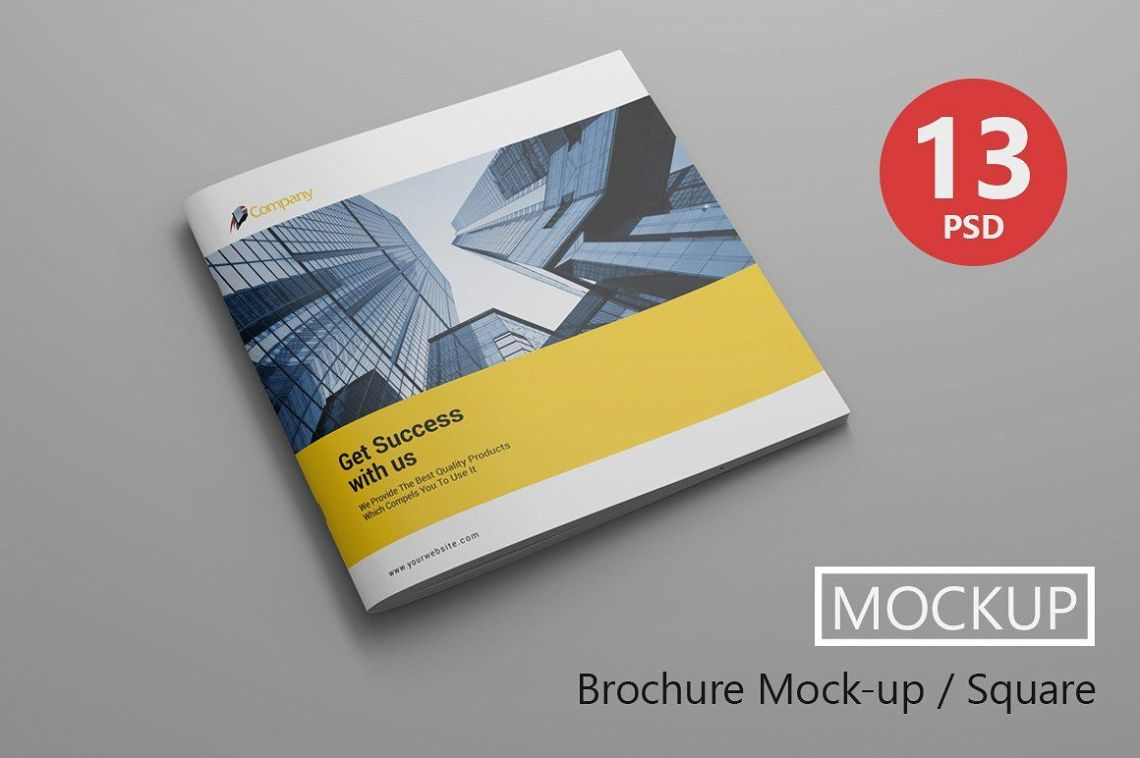 Download Square Brochure Mockup Psd Free Yellowimages