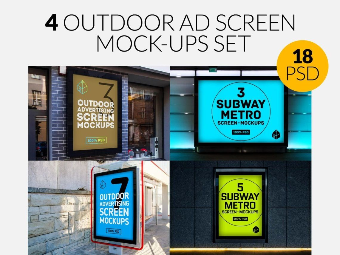Download Advertising Mockup Psd Psd Yellowimages