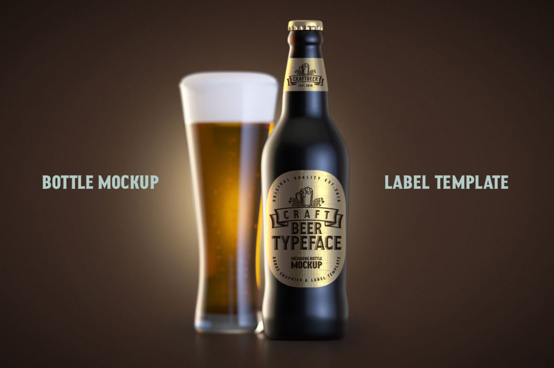 Download Beer Bottle Psd Mockup Free Yellowimages