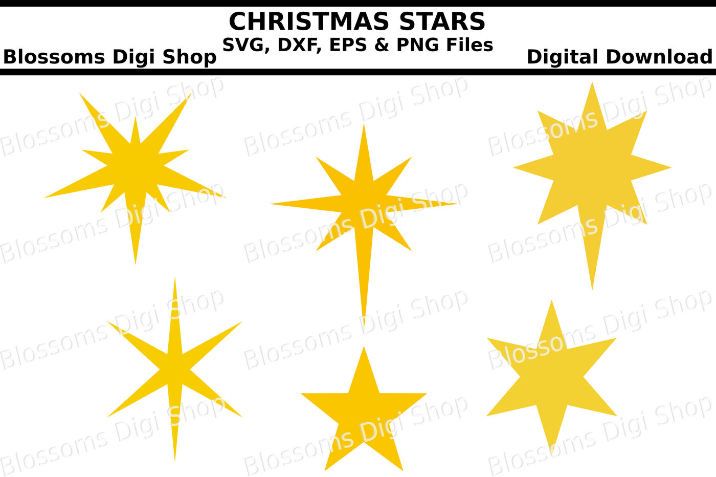 Download free static and animated christmas star outline vector icons in. Christmas Stars Svg Eps Dxf And Png Cut Files By Blossoms Digi Shop Thehungryjpeg Com