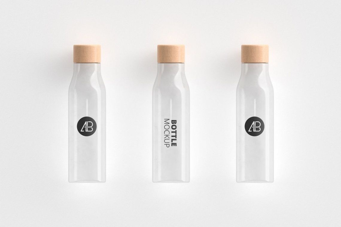 Download Frosted Green Bottle Mockup Yellowimages