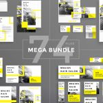 Design Templates Bundle Flyer Banner Branding Hair Salon By Amber Graphics Thehungryjpeg Com