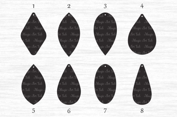 Earring template SVG, DXF, EPS, AI, PNG, PDF, JPEG By ...