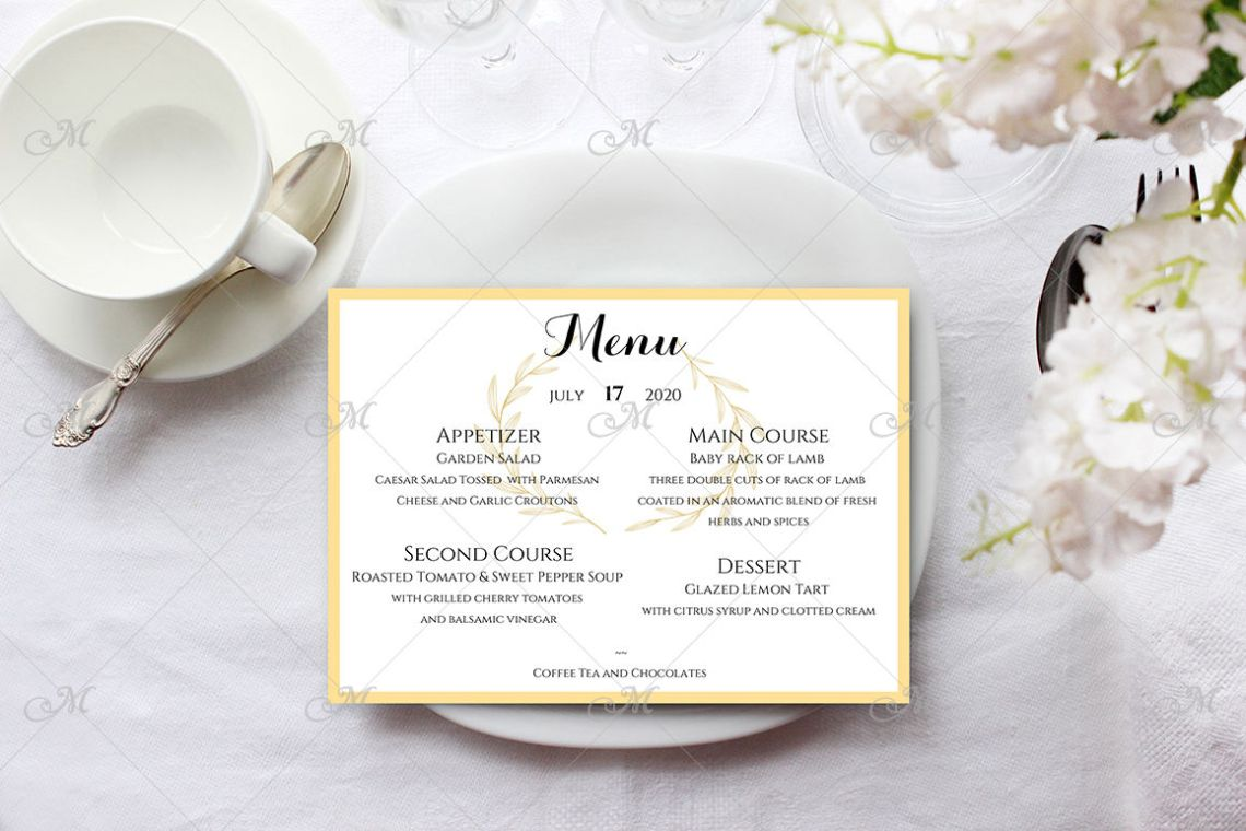 Download Food Menu Mockup Psd Yellowimages