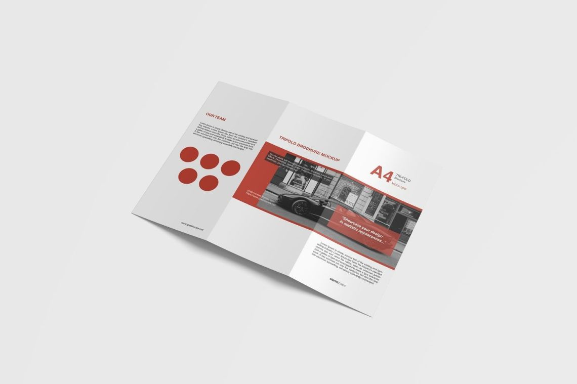Download A4 Bifold Brochure Mockup Psd Yellowimages