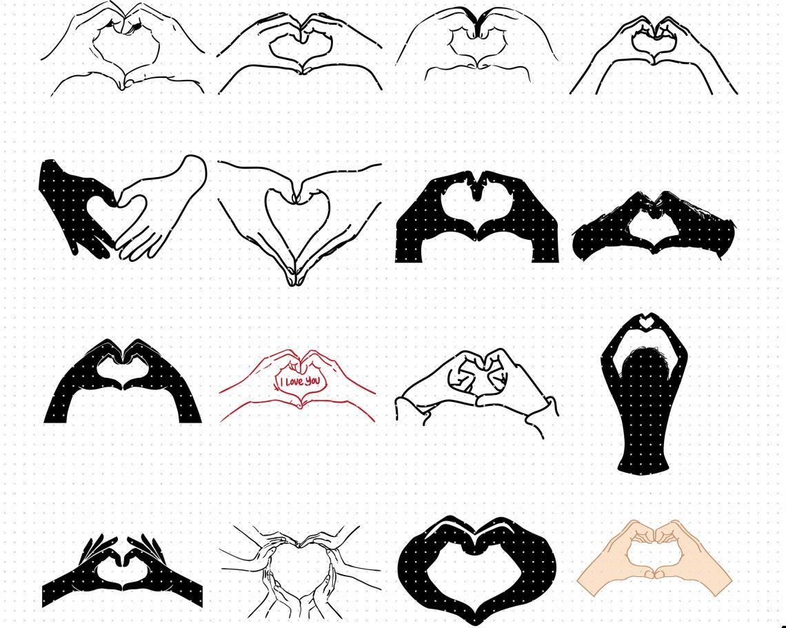 Download hand heart svg, svg files, vector, clipart, cricut ...