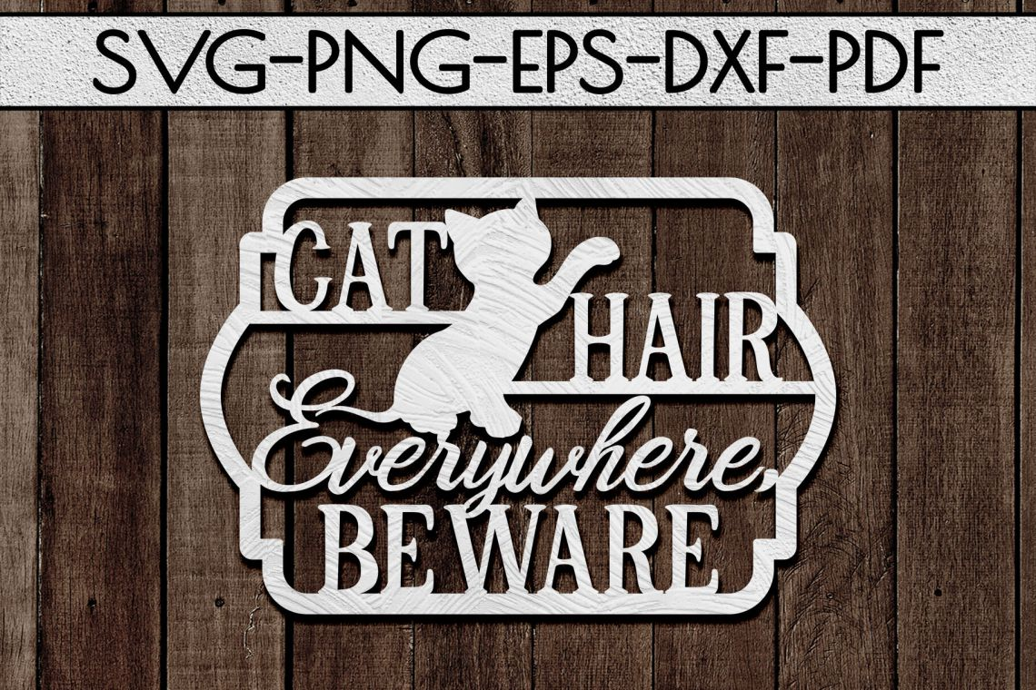 Download Cat Lover Papercut Template, Cat House Decor, SVG, DXF By ...