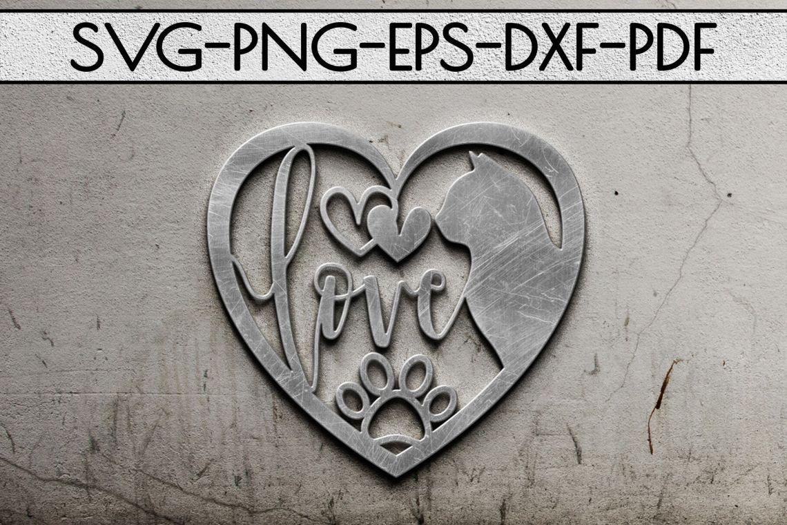 Download Cat Lover Papercut Templates Bundle, Laser Vector SVG, DXF ...