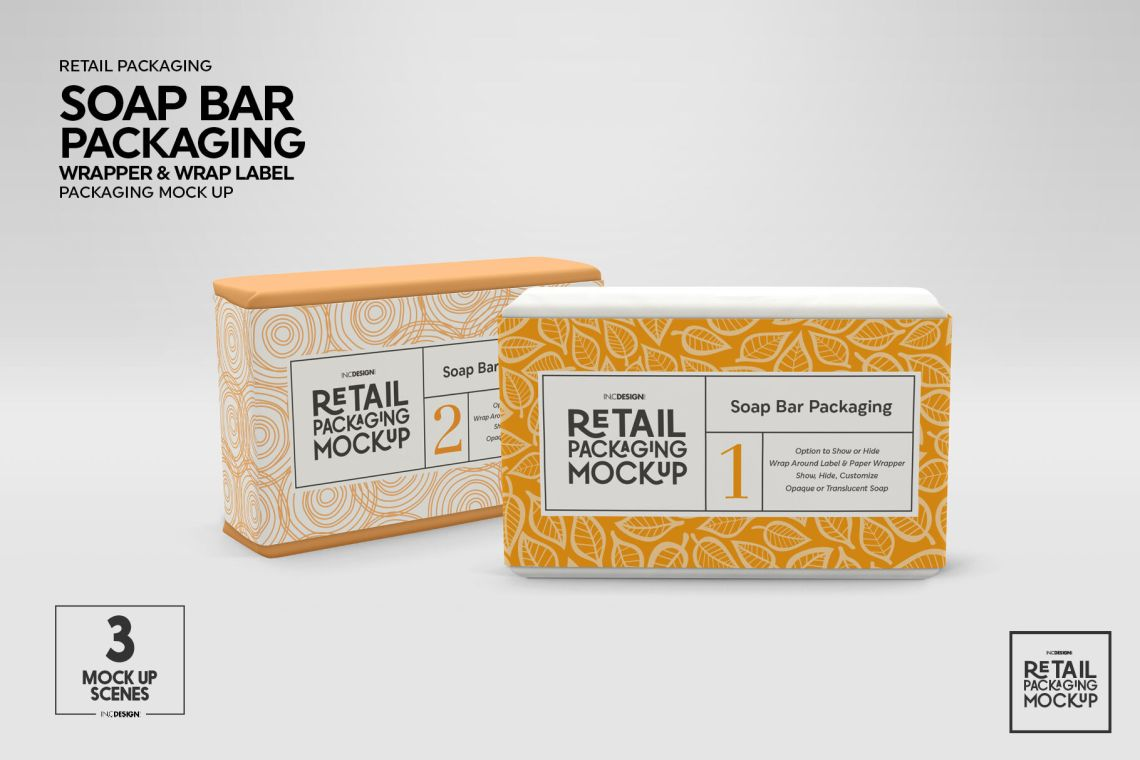 Download Glossy Soap Bar Package Mockup Yellowimages