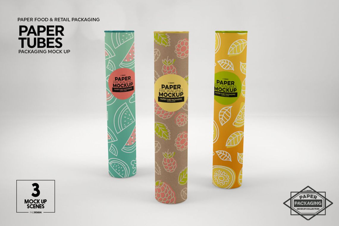 Download Kraft Paper Tube With Lid Mockup Yellowimages