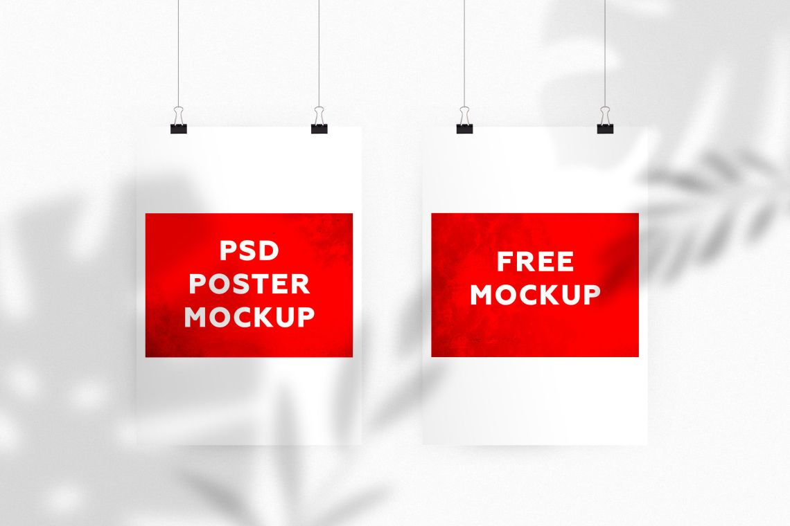 Download Poster Mockup Template Psd Free Yellowimages