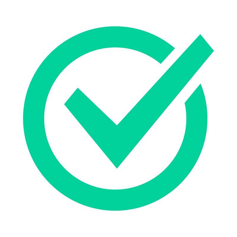 Check mark sign. Checklist green marking logo, check web ... on ✔  id=65112
