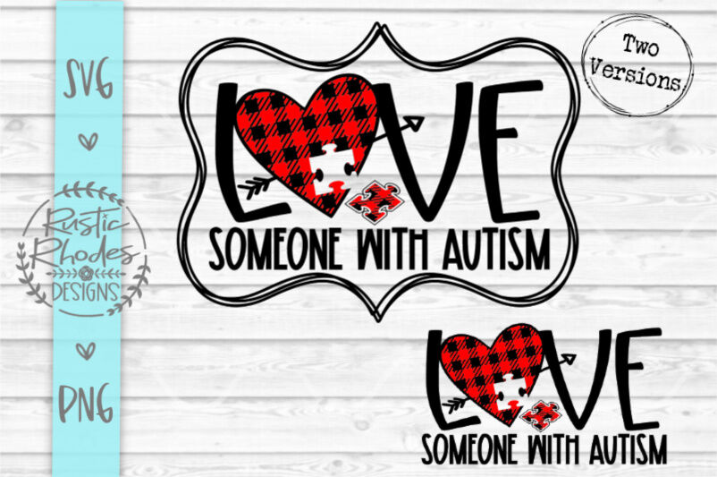 Download Love Someone With Autism {Buffalo Plaid} SVG / PNG Digital ...