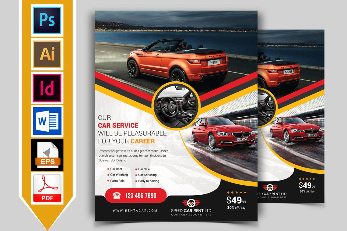 Download Auto Business Cards Psd Mockup Free Yellowimages