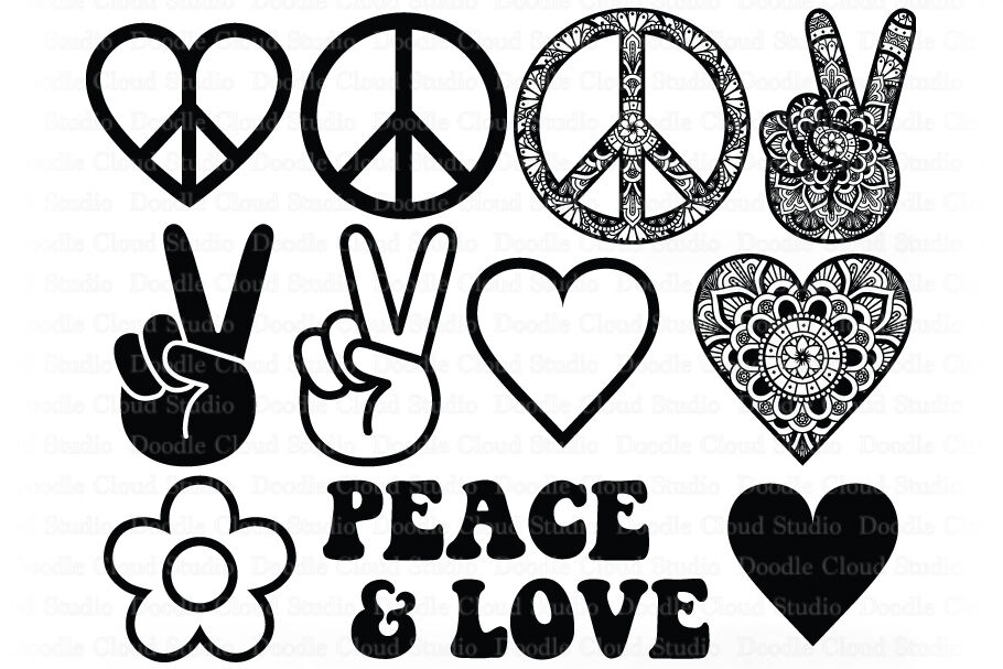 Download Download Peace Love Coffee Svg for Cricut, Silhouette ...