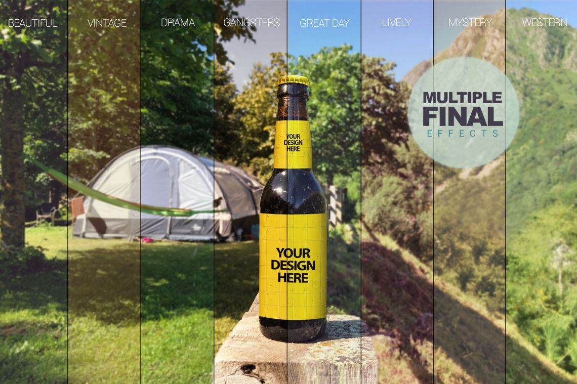 Download Free Mockup Beer Bottle Yellowimages