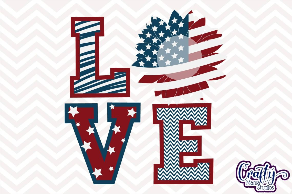 Download Sunflower Svg, USA Flag Sunflower Love Svg American Flag ...