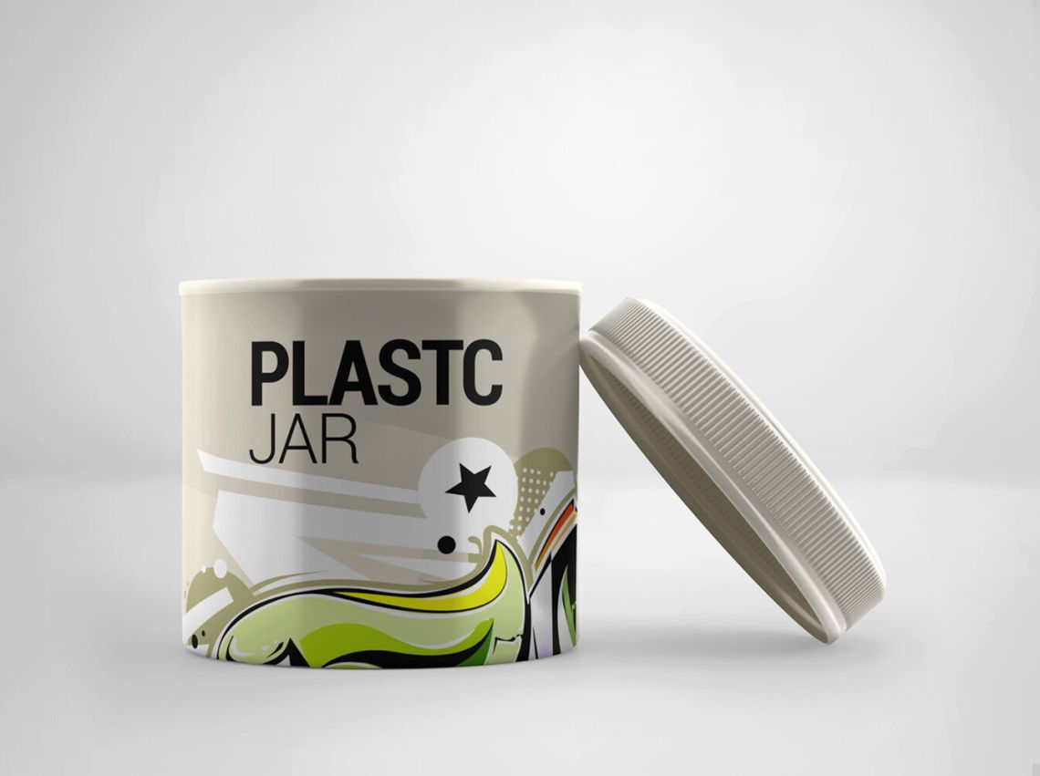 Download Plastic Jar Mockup Front View Yellowimages
