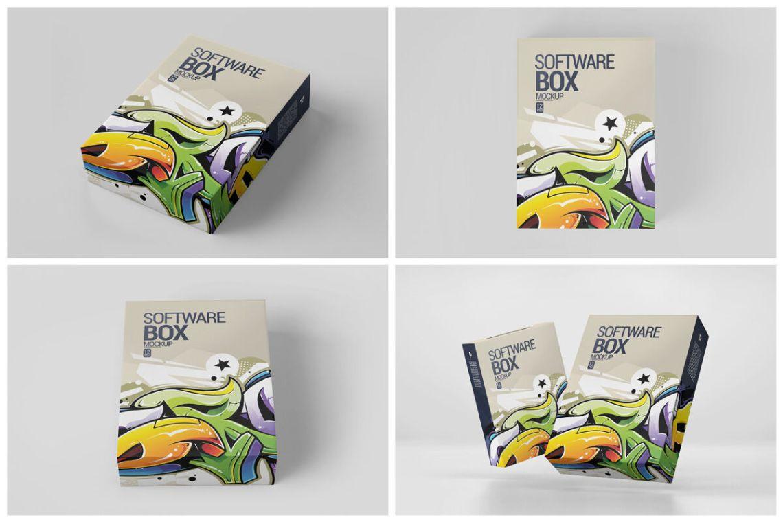 Download Kraft Carton Box Mockup Front View High Angle Shot Yellowimages