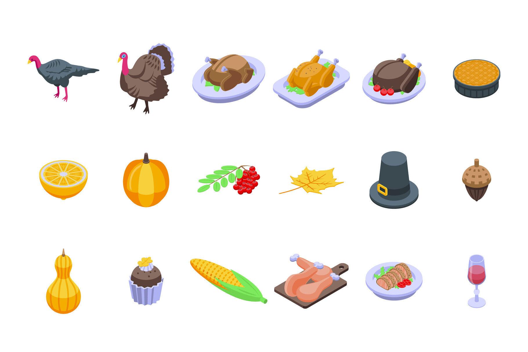 Thanksgiving Turkey Icons / Bird Thanksgiving Turkey Icon Download ...