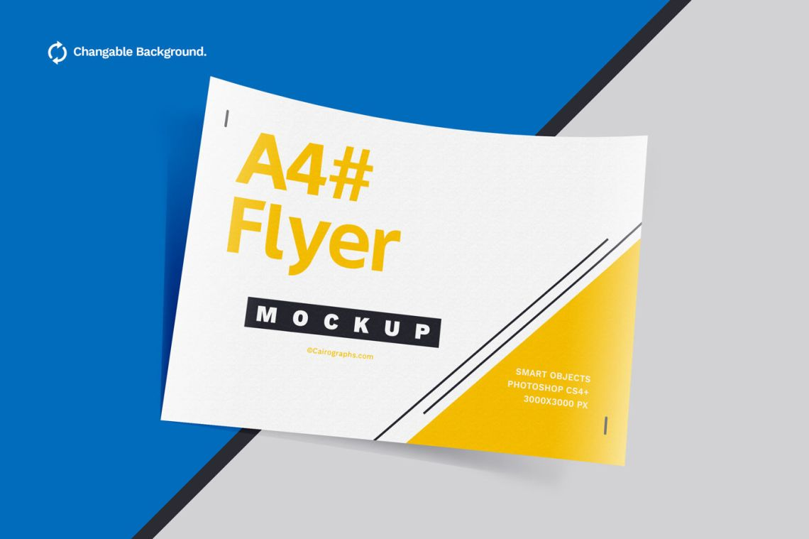 Download Magazine Ad Mockup Psd Free Yellow Images