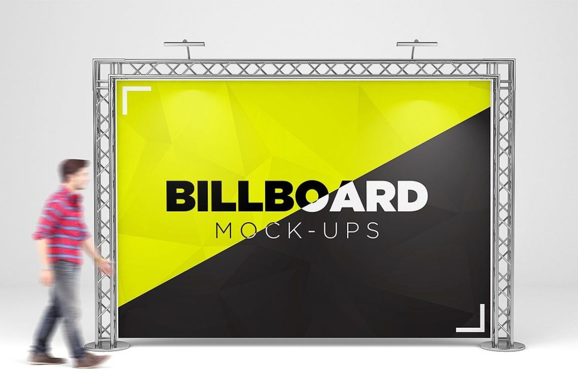 Download Advertising Board Mockup Psd Yellow Images