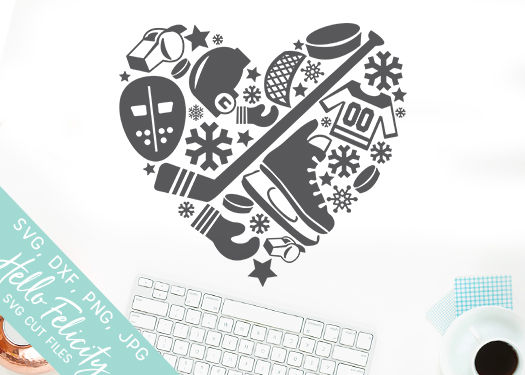 Download Hockey Heart Love SVG Cutting Files By Hello Felicity ...