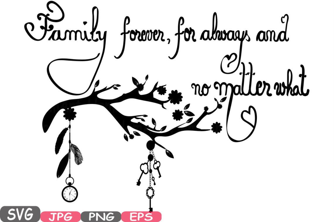 Download Family Forever SVG Word Art family quote clip art ...