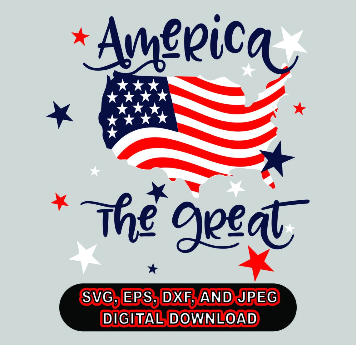 Download 4th of July SVG, DXF, EPS, and Jpg Files for Cutting ...
