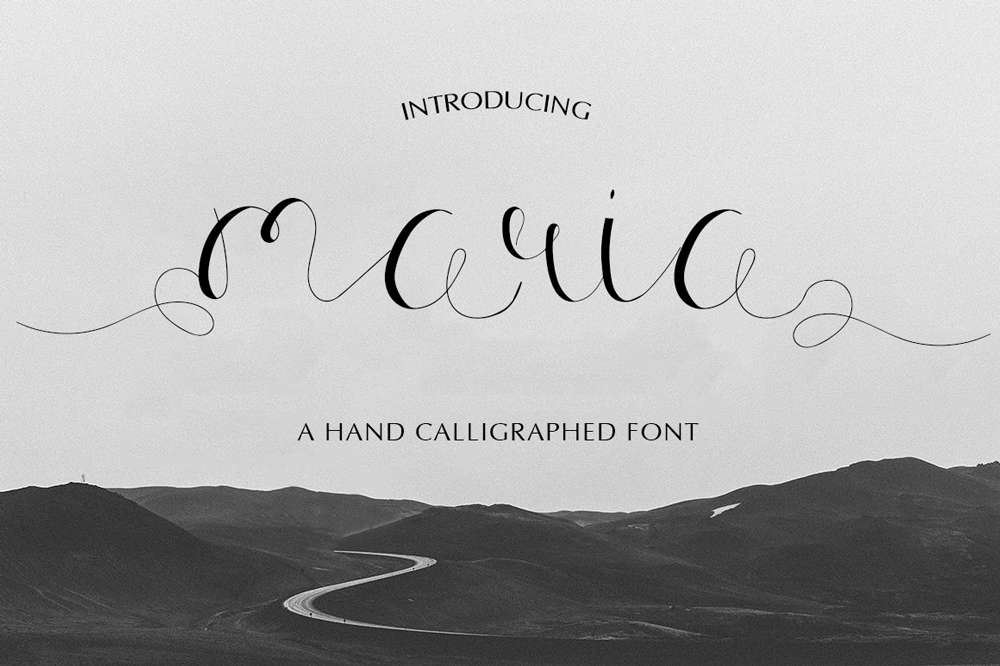 Calligraphy cursive font stock illustration. Maria Calligraphy Font By iTypeface   TheHungryJPEG.com
