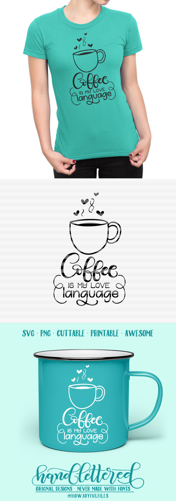 Download Coffee is my love language - SVG, PNG, PDF files - hand ...