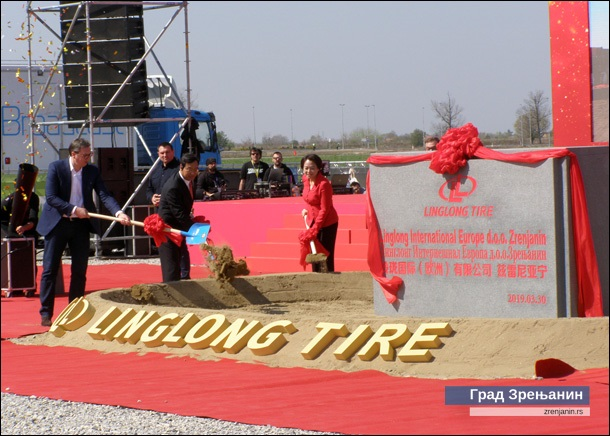 Polozen Kamen Temeljac Za Linglong Otvaranje Nove Ekonomske
