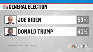 Another poll shows Biden leading Trump by double digits